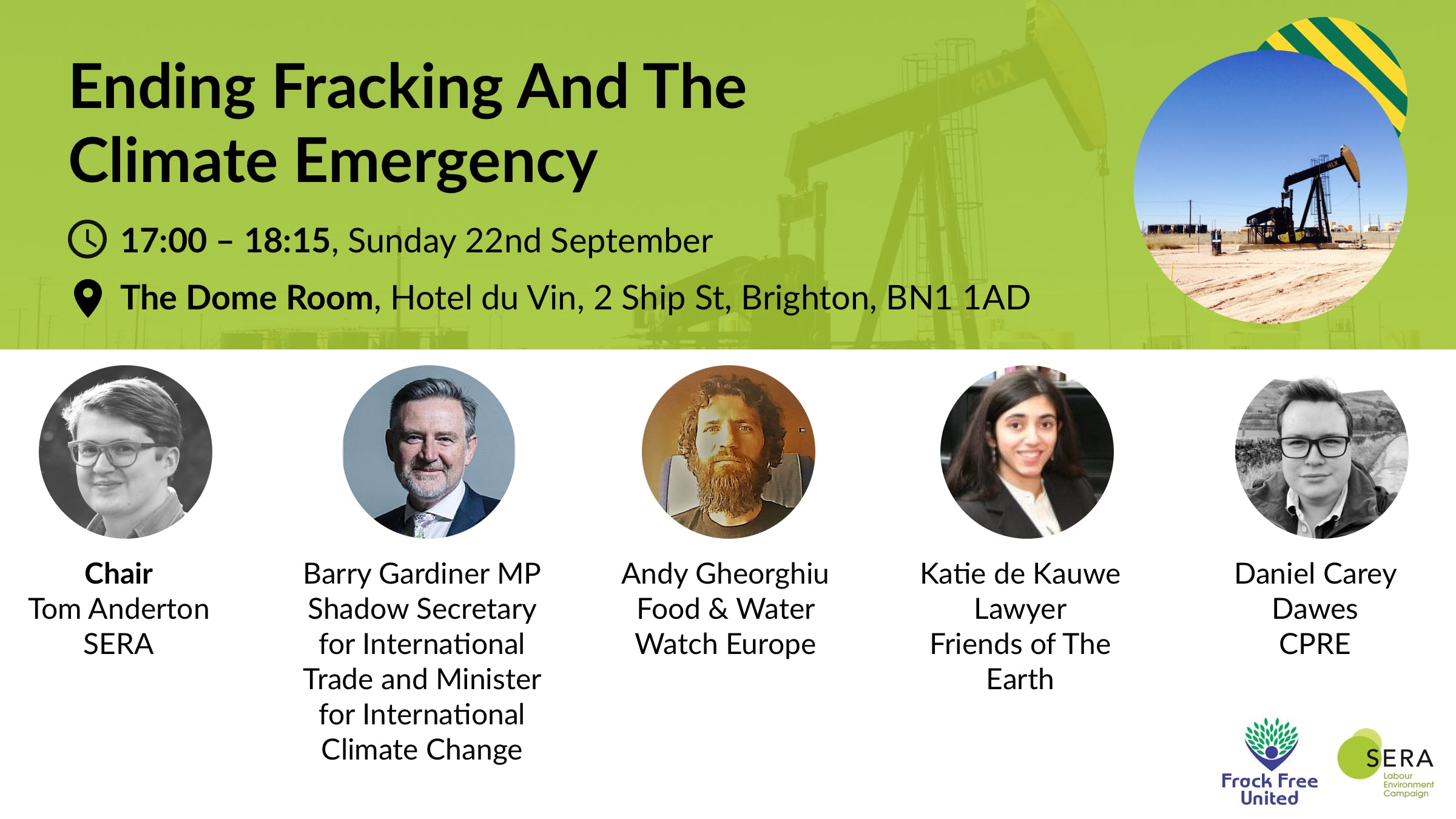Ending fracking and the climate emergency