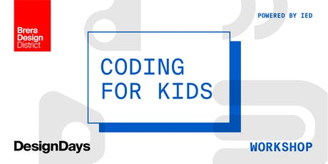 Coding for Kids - powered by IED biglietti