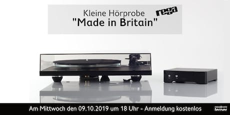 "Rega, ""Made in Britain"" – Das englische Drehmoment Tickets"