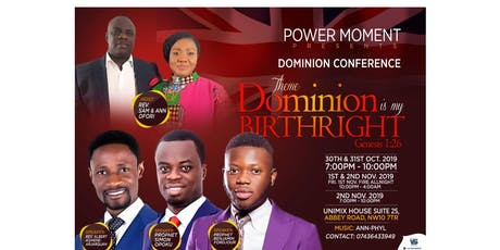 DOMINION CONFERENCE 2019 tickets