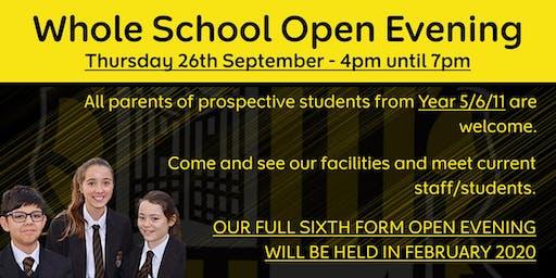 Open Evening @ Calderstones School