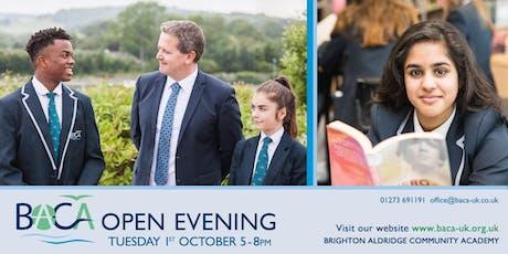 BACA Open Evening tickets