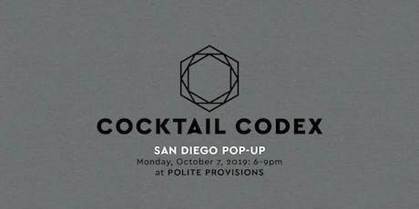 Cocktail Codex Pop-Up - San Diego! tickets