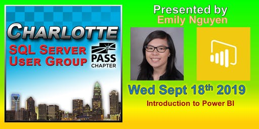 Charlotte SQL Server User Group - Wed September 18th - Meeting Invitation and RSVP