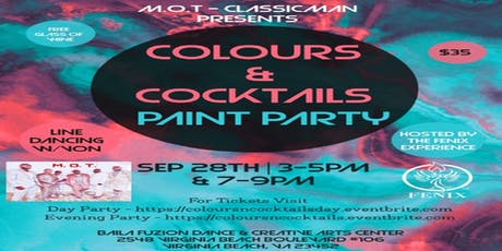 M.O.T presents Colours & Cocktails Evening Paint Party tickets