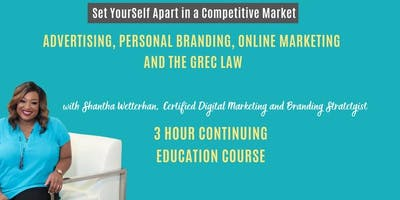 Advertising, Personal Branding, Online Marketing and the GREC (3 Hour CE)