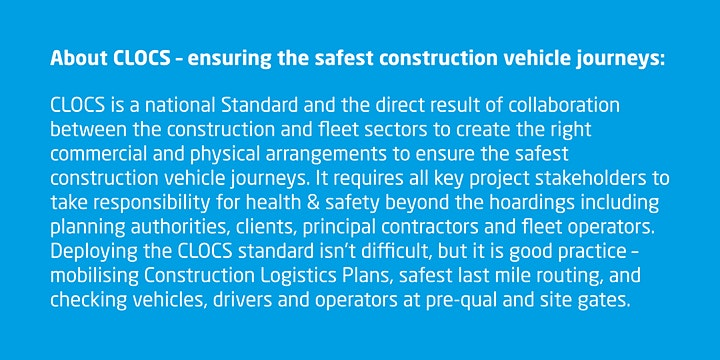 TfGM co-invest in Construction Logistics and Community Safety (CLOCS) image