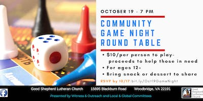 Community Game Night Round Table