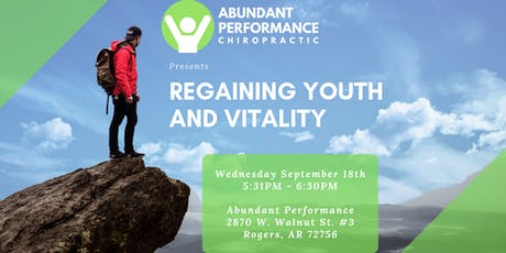 Regaining Youth & Vitality Class tickets