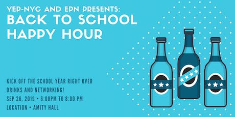 YEP-NYC and Education Policy Network Presents: Back to School Happy Hour! tickets