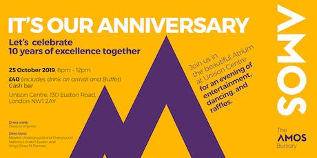 Amos Bursary  - It's our Anniversary. Lets celebrate 10 years of Excellence tickets