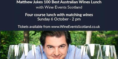 Matthew Jukes 100 Best Australian Wines Lunch tickets