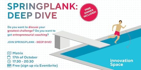 Springplank - DEEP DIVE tickets