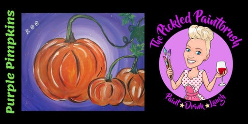 Painting Class - Purple Pumpkins - ALL AGES - October 27, 2019*