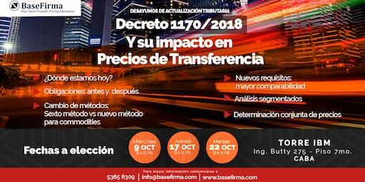Decreto 1170/2018 y su impacto en Precios de Transferencia