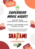 SUPERHERO MOVIE NIGHT!