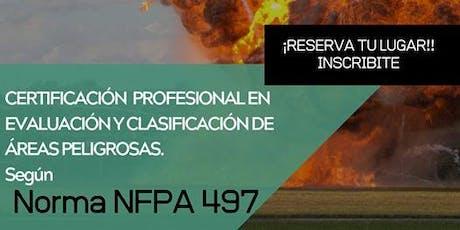 Certificación Profesional en evaluación y clasificación de áreas peligrosas - Según NFPA 497  entradas