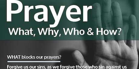 PRAYER: What BLOCKS our prayers? tickets