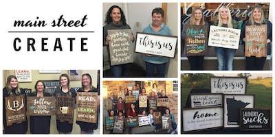 Main Street Create | Farmhouse/Pallet Sign Class | November 29 - 6pm