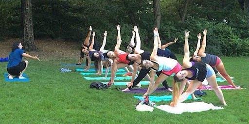 Yoga in Strawberry Fields (Washington Square Park) 9.17.19
