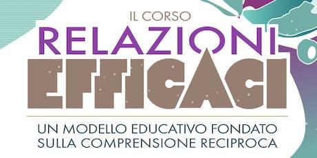 Presentazione del corso RELAZIONI EFFICACI biglietti