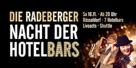 Die Radeberger Nacht der Hotelbars Düsseldorf Tickets