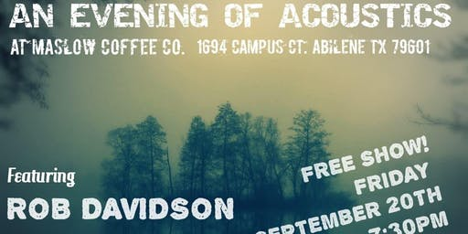 Free Acoustics Concert with Rob Davidson and Zack Keene