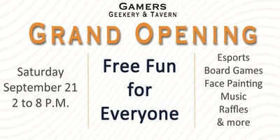 Gamers Geekery & Tavern Grand Opening