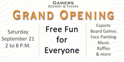 Gamers Geekery & Tavern Grand Opening