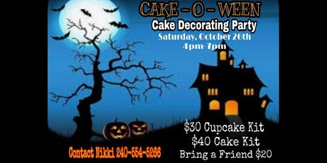 Cake-o-ween Cake decorating class tickets