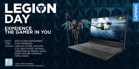 Lenovo Legion Day | Chennai tickets