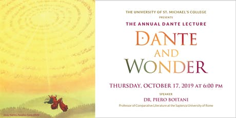 The 2019 Annual Dante Lecture: Dante and Wonder tickets