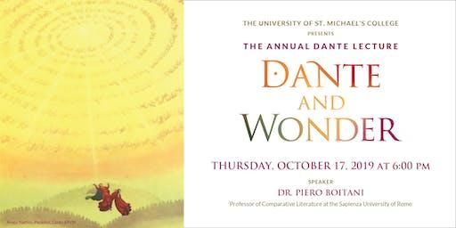 The 2019 Annual Dante Lecture: Dante and Wonder