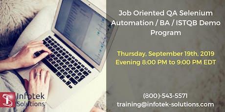 IT Job-Oriented QA Automation Testing /BA/ISTQB New Batch Launching Program tickets