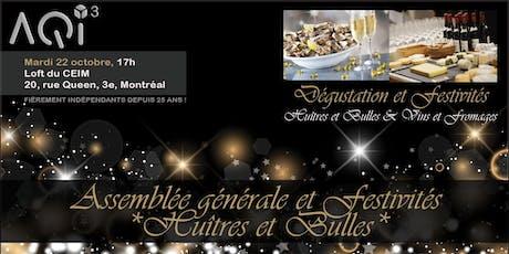 26e AGA et festivités *Huîtres & Bulles* billets