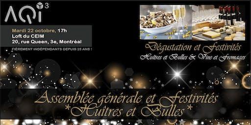 26e AGA et festivités *Huîtres & Bulles*