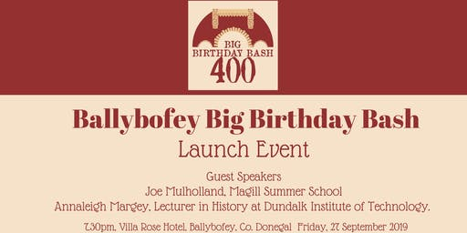 Ballybofey Big Birthday Bash - Launch Event