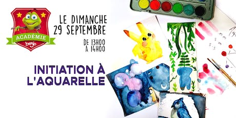 Initiation à l'aquarelle billets