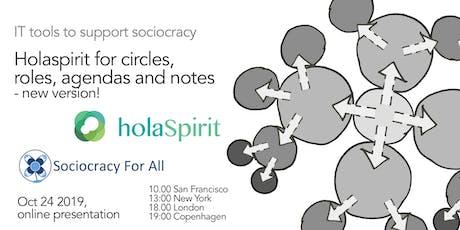 Using holaspirit to organize sociocratic circles, roles and agendas tickets