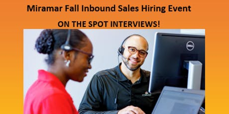 Miramar Fall Inbound Sales Hiring Event tickets