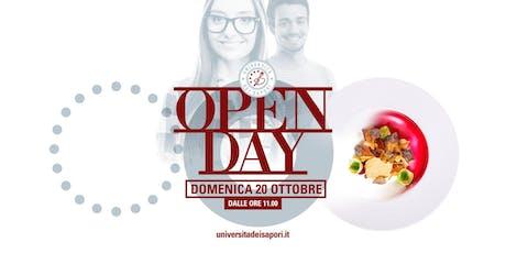 OPEN DAY Università dei Sapori, 20 Ottobre 2019 - sessione autunnale  biglietti