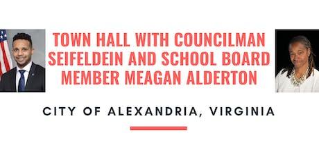 Town Hall with Councilman Seifeldein & School Board Member Meagan Alderton tickets