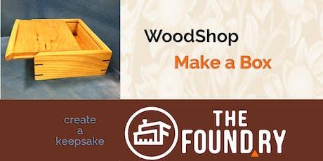 Keepsake Box - Woodworking Class tickets