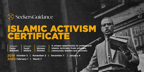 The SeekersGuidaince Islamic Activism Certificate [in-person] tickets