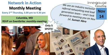 Monthly Meeting - Network in Action tickets