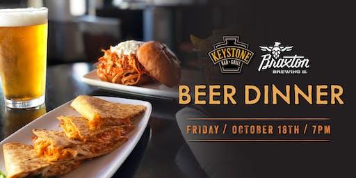 Keystone & Braxton Beer Dinner