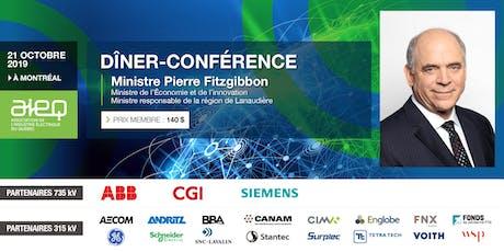 AIEQ - Déjeuner-conférence avec le ministre de l'Économie et de l'Innovation tickets