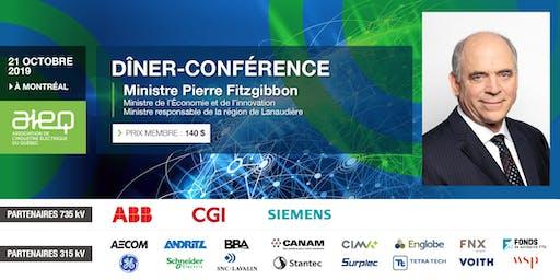 AIEQ - Déjeuner-conférence avec le ministre de l'Économie et de l'Innovation