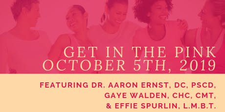 Get in the Pink: Holistic Breast Health Seminar tickets