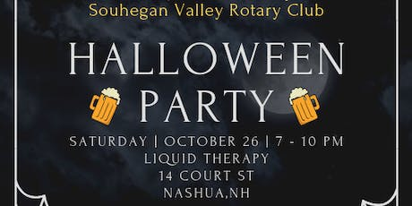 2019 Souhegan Valley Rotary Halloween Party tickets